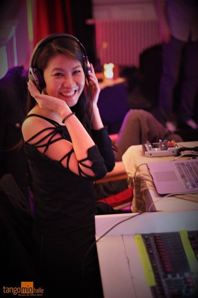 DJ Naoko busy being a TDJ.